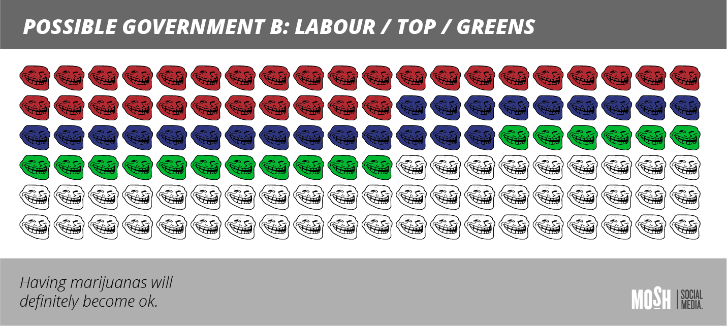 Coalition Government Labour, TOP and Green